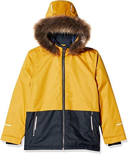 NAME IT Jungen NKMSNOW08 Jacket Block 1FO Jacke, Mehrfarbig (Golden Orange Golden Orange), (Herstellergröße: 152)