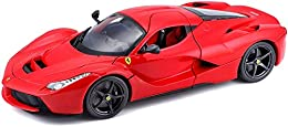 1:18 scale diecast metal body with plastic parts Detailed chassis with separate exhaust system Full function steering Four wheel spring suspension Mounted on plastic stand