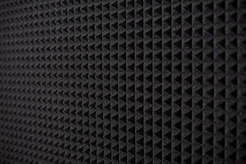 Pannello Fonoassorbente Piramidale 50x50x3cm D25 Grigio Antracite - Pacco Da 4 (1mq)