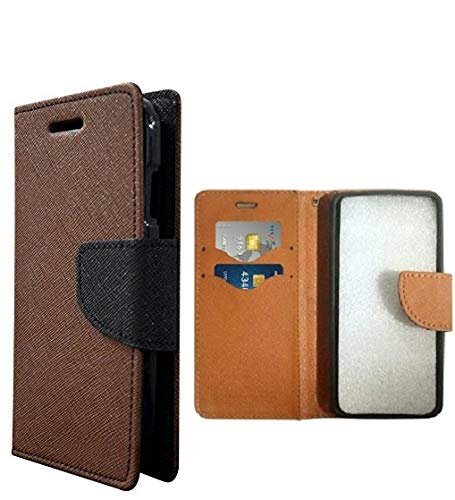 COVERBLACK Mercury Flip Cover for Motorola Moto E (2nd Generation) Moto E2 - Full Brown