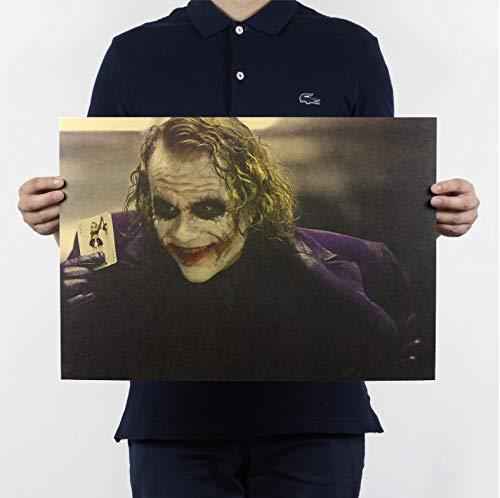 Vintage classique film Batman The Dark Knight Joker affiche Bar Cafe Home Decor peinture rétro Kraft papier Wall Sticker 51X35Cm