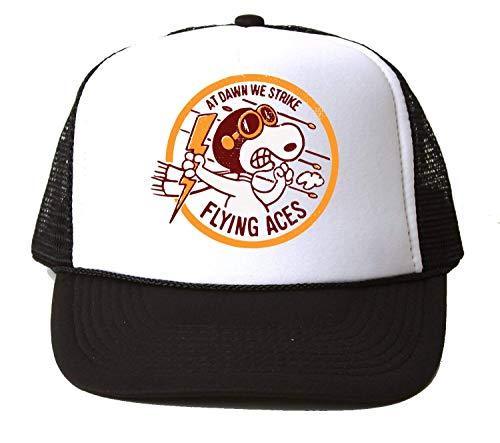 NoMoreFamous Snoopy at Dawn We Strike Flying Aces Baseball Cap Unisex Mütze Kappe Hat One Size