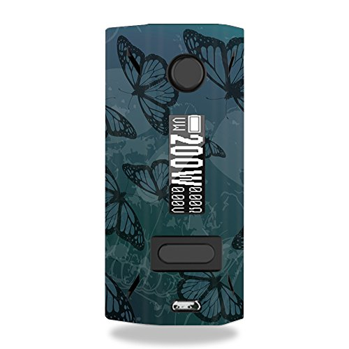 MightySkins Skin Compatible with Smoant Battlestar 200W - Dark Butterfly | Protective, Durable, and Unique Vinyl Decal wrap Cover | Easy to Apply, Remove, and Change Styles | Made in The USA