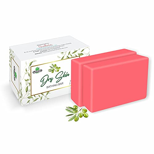 MYOC Soap For Dry Skin With Glycerine, Vitamin E & Olive Oil | Moisturising Bathing Bar For Hands And Body- 75 gm (Pack of 2)