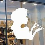 Calcomanía de pared para salón de uñas, vidrio de ventana, arte decorativo, salón de belleza, peluquería, habitación de niña, vinilo, adhesivo para pared, papel tapiz de moda