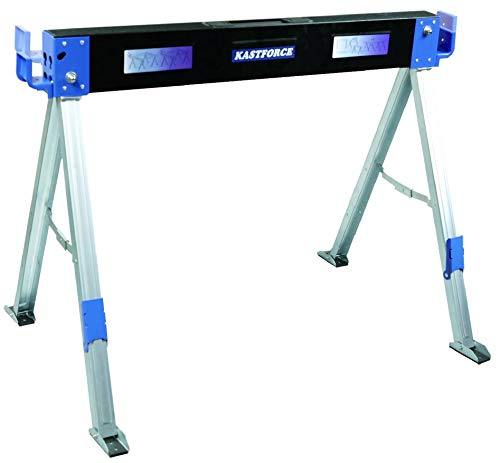 KASTFORCE KF3003 Folding Sawhorse Jobsite Table 1100lbs Capacity 2 Positions Building Your Work...