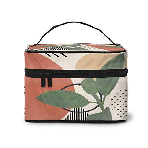 Portátil para bolsa de cosméticos para las mujeres Naturaleza Geometría III Profional tren caso organizador multifunción caso