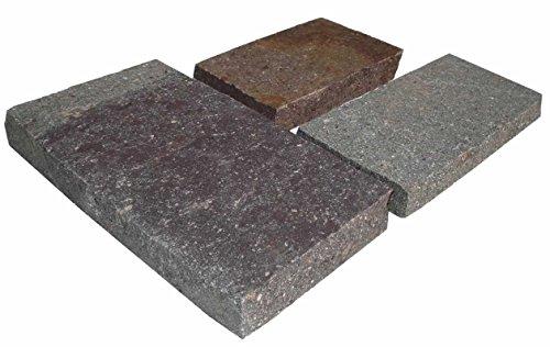 WUEFFE Piastrelle in Porfido - Pavimento Rivestimento mattonelle Pietra Giardino (Larghezza 25 cm, mq. 7)