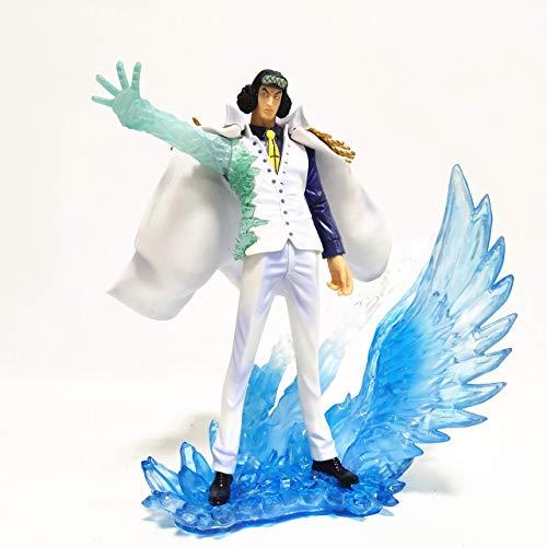 SHUMEISHOUT La nueva pieza Kuzan Estatua de Pvc Figura de acción Juguetes 19.5Cm, Anime Una Pieza Kuzan Efecto Hielo Juguetes Coleccionables
