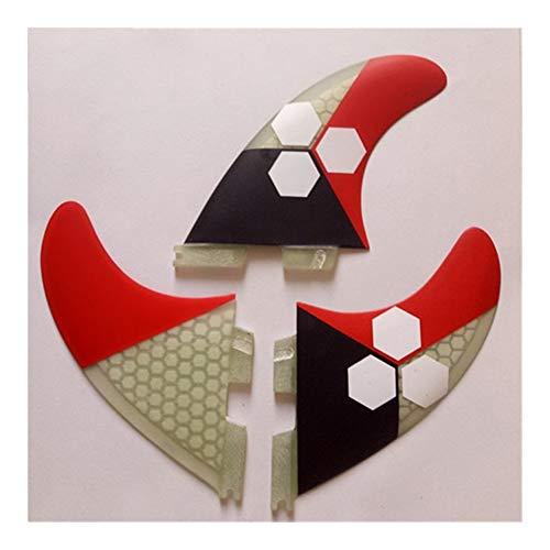 LTH-GD Accesorios de Tablero de Remo Surf Fin II Fibra de Vidrio Tabla de Surf Surf Aletas Aletas 3pcs / Set Aletas de Surf Surf Fin Titular de la Tabla de Surf (Color : 7)