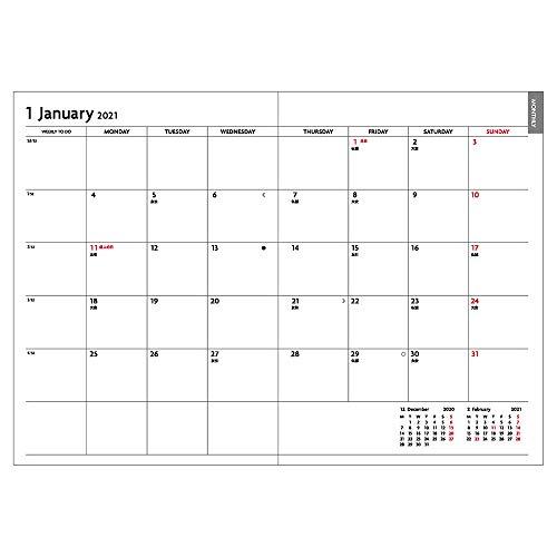 マークス手帳2021スケジュール帳ダイアリーEDiT1日1ページ2021年1月始まりA6正寸パターン21WDR-ETD03-NV