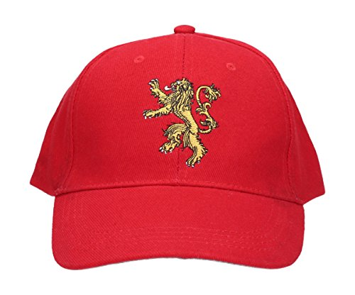 SD Toys Lannister Game of Thrones Casquette de Baseball, Rouge, Taille Unique Mixte