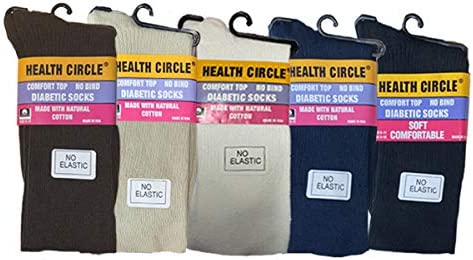 Health Circle Ladies Fine No Sock Regular discount Diabetic excellence Crew Elastic