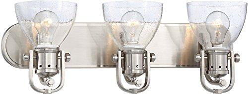 Minka Lavery Urban Industrial Wall Light Fixtures 3413-84 Wall Bath Vanity Lighting, 3-Light 300 Watts, Brushed Nickel