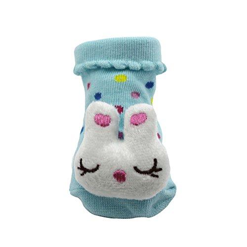 DDU Unisexe 3D animal style chaussettes des bébé conception de chaussures bottes Rabbit
