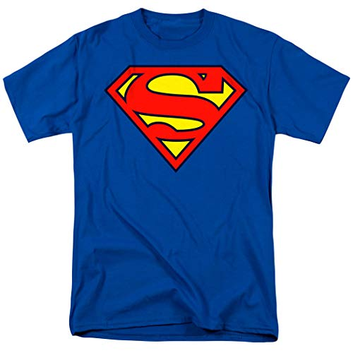 Superman Classic Logo T Shirt & Stickers (XX-Large)