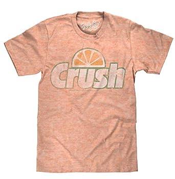 Tee Luv Orange Crush Big and Tall T-Shirt - Crush Soda Logo Graphic Tee Shirt  Orange Snow Heather   3XLB