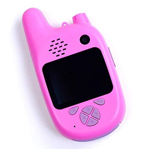 1080P HD Mini vídeo Juguetes educativos Niños cámara Digital de walkie Talkie videocámara Reproductor de música MP3 Juego de la cámara de proyección de vídeo (Color : Pink)