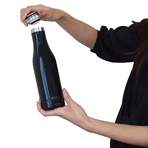 mosh!(モッシュ!)マグボトル真空断熱スクリュー式0.5Lブラック