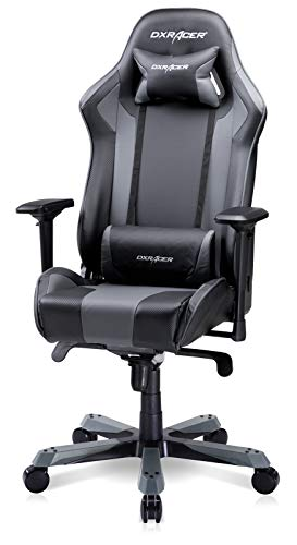 DXRacer 275LB Gaming Chair 90-135 Degree High-Back Racing Recliner 4D Arms Ergonomic Home Office Executive PC Computer Seat, King Series KS06, Large, Black & Gray