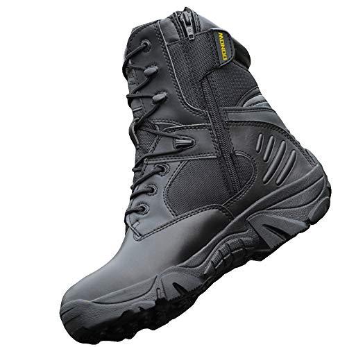 JPFCAK, Zapatos para Fanáticos del Ejército Al Aire Libre Botas Tácticas Altas Botas De Combate En El Desierto Botas Militares para Hombres Botas para Volar Zapatos Militares, 38-44,Black-43