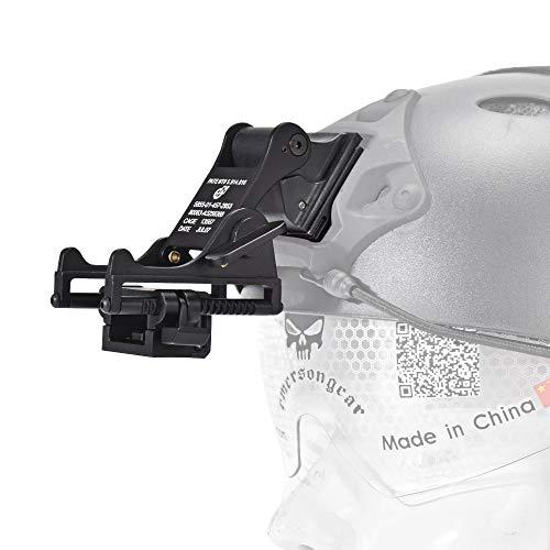 EMERSONGEAR Night Vision Goggles Holder Bracket MICH M88 Metal Fast Helmet Mount Kit Helmet Accessories Rhino NVG PVS-7 PVS14 (Black1)
