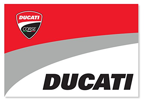 NEU. Ducati Corse Supporters Fan Flagge 100 x 70 cm, offizielles MotoGP Bike Merchandise