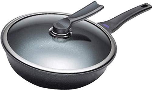 TINGFENG Wok Wok sartén sin palmado sartén sin humo cocina utensilios de cocina estufa de gas olla hierro wok sopa olla