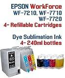 Dye Sublimation Ink - Epson WorkForce WF-7210 WF-7710 WF-7720 printer Refillable ink cartridge