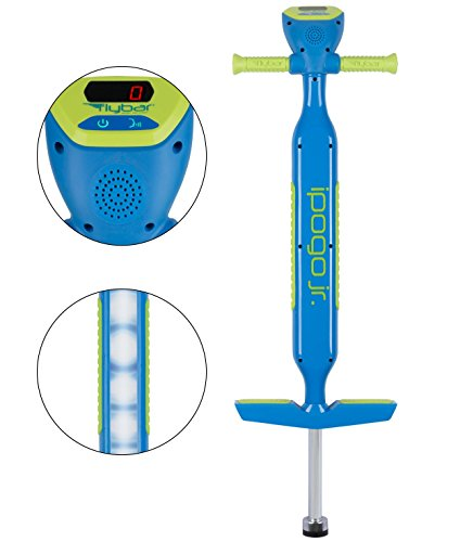 Flybar iPogo Jr. - Worlds First Interactive Counting Pogo Stick for Kids Ages 5 to 9 (Blue)