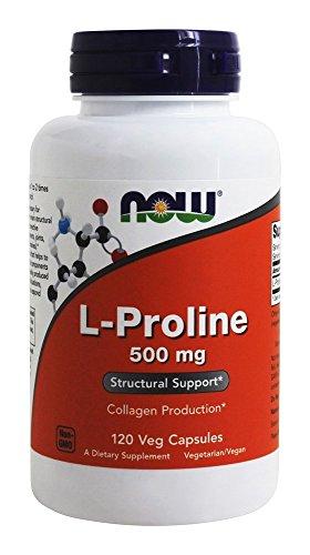 NOW Foods - Magnesio 500 del L-Proline. - 120cápsulas vegetarianas