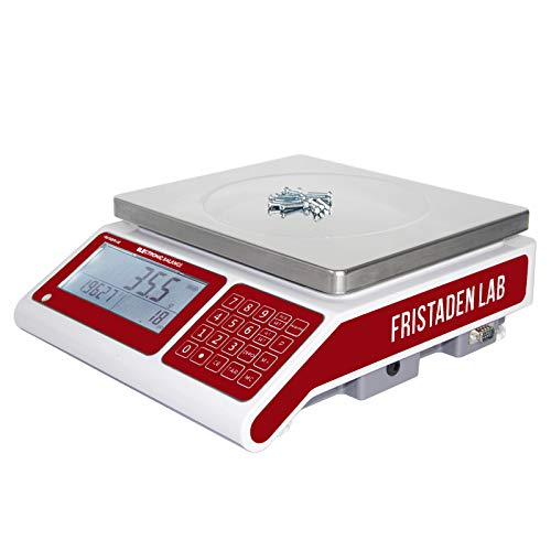 Industrial Counting Scale for Parts and Coins | 30kg Capacity and 0.5g Accuracy | Count and Weigh Hundreds of Small Parts or Coins in Seconds | Precision Electronic Gram Scale by Fristaden Lab