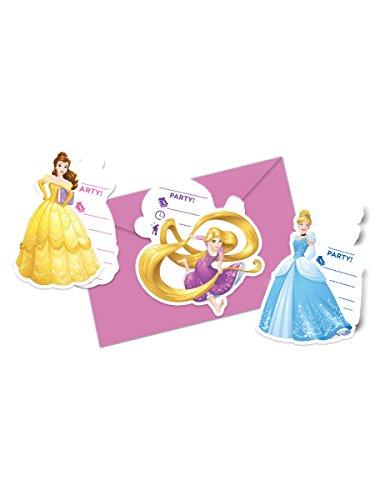 6 Cartes d'invitation + enveloppes Princesses Disney Dreaming - taille - Taille Unique - 307265