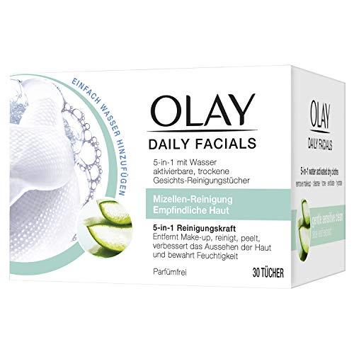 Olay Daily Facials Mizellen-Reinigung Für Empfindliche Haut, 30 Gesichts-Reinigungstücher