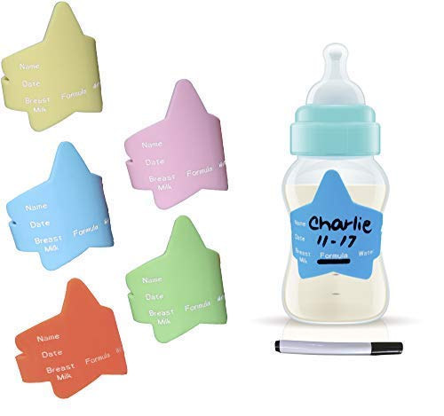 Tot Tots-The Fastest- Baby Bottle Label Bands for Daycare-Reusable-Waterproof- Silicone (Multi-Color)