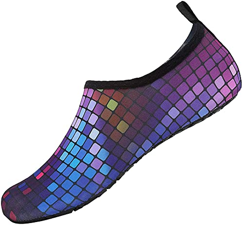 JOK Calcetín de secado rápido para hombre para piscina, zapatos de playa de buceo, zapatos de yoga para mujer, color morado - 9/9.5 UK