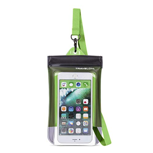 Travelon Waterproof Smart Phone/Digital Camera Pouch, Green, One Size