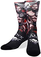 Crazy Socks, Unisex, WWE Wrestling, Ring Legends, Crew Socks, Novelty Silly Fun