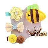 LEXUPE 5Pcs Kids Infant Hairpin Baby Girl Cartoon Animal Motifs Hair Clip Set(C,Free Size)