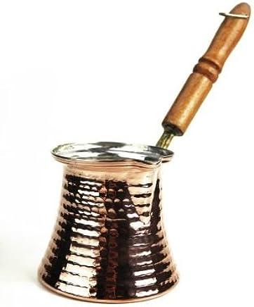 Preisvergleich für 'CopperGarden' Mokkakanne aus Kupfer (S) - Ibrik aus lebensmittelecht verzinntem Kupfer mit Holzgriff