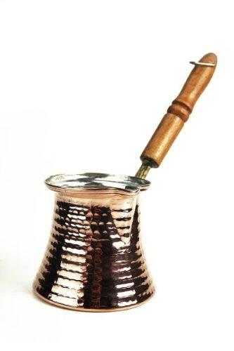 'CopperGarden®' Mokkakanne aus Kupfer (S) ❀ Ibrik aus lebensmittelecht verzinntem Kupfer mit Holzgriff
