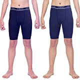 LEAO Youth Boys Compression Shorts 2-Pack...