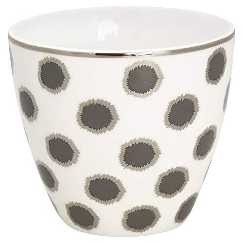 GreenGate - Becher, Tasse, Latte Cup - Savannah - Porzellan - weiß - 300 ml