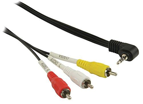 Valueline AV-Kabel, AV-Klinkenstecker auf 3X Cinch-Stecker (3,5 mm, 2m) schwarz