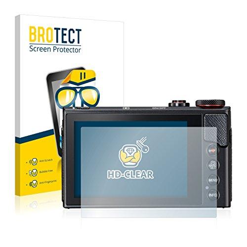 brotect Pellicola Protettiva Compatibile con Canon PowerShot G9 X Mark II Pellicola Trasparente (2 Pezzi) Anti-Impronte
