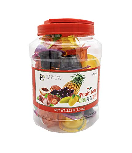FRUIT JELLY Assorted Natural Fruit Juice Jelly Cups 2.93lbs (1.33kg)_Approx 38 Cups