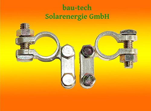 2er Set Batterieklemmen, Polklemmen, Batterie Klemme für Photovoltaik Solar PV von bau-tech Solarenergie GmbH