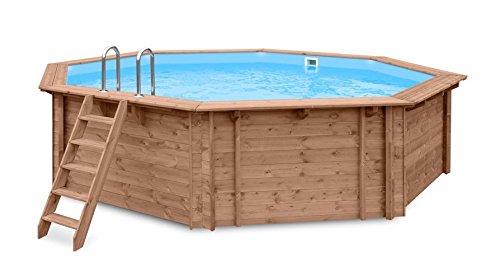 Blue Hawaii Jardín Piscina Pool a y 96188, madera, oktogonales Piscina, 5,60X 5,17X 1,29m, Bomba, Pool Escalera, Skimmer