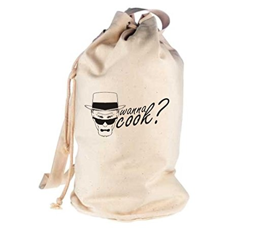 Unbekannt Crocodil Wanna Cook Breaking Bad heisenberg Sac de sport culte - Beige - naturel, 40 x 52 cm