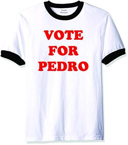 Vote for Pedro- Ringer Tee in White/Black - Kids-SM